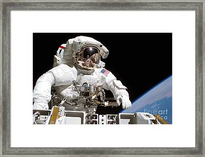 Astronaut Participates Framed Print by Stocktrek Images