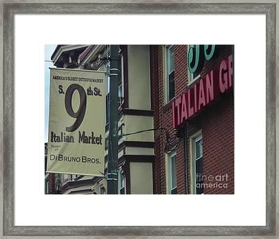 9th Street Italian Market Framed Print by Snapshot Studio