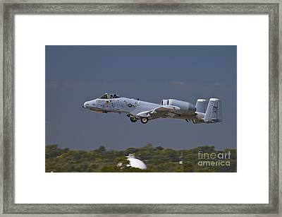 A-10 Thunderbolt Takeoff Framed Print by Tim Mulina
