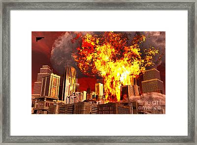 A 3d Conceptual Image Of A Stealth Framed Print by Mark Stevenson