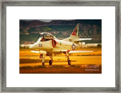 A-4 Skyhawk Up For A Hunt Framed Print by Gus McCrea