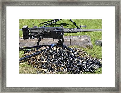 A .50 Caliber Browning Machine Gun Framed Print by Andrew Chittock