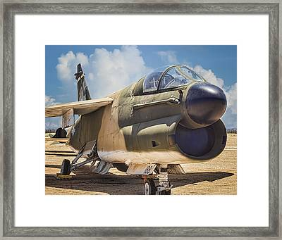 Framed Print featuring the photograph A-7 Corsair II by Steve Benefiel