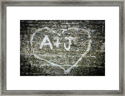 A And J Framed Print