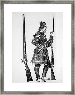 A Barefoot Congress Soldier Framed Print