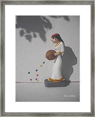 A Basket Of Possibilities Framed Print