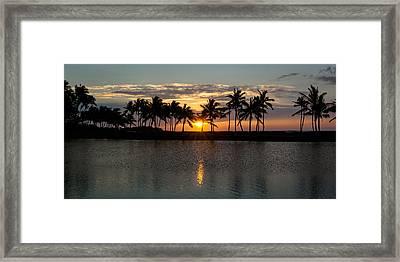 A-bay Sunset Framed Print by Jen Morrison