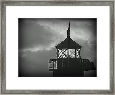 A Beacon In The Night Framed Print by Kay Novy