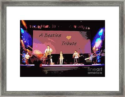 A Beatles Tribute Framed Print by Renee Trenholm
