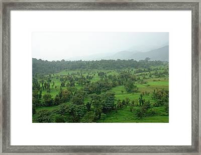 A Beautiful Green Countryside Framed Print