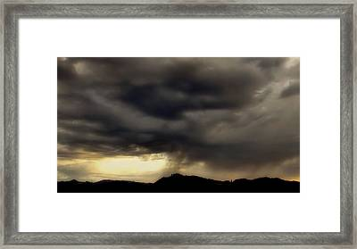 Framed Print featuring the photograph A Beautiful Storm by Katie Wing Vigil