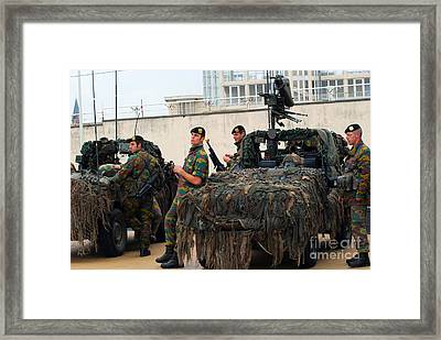 A Belgian Recce Or Scout Team Framed Print by Luc De Jaeger