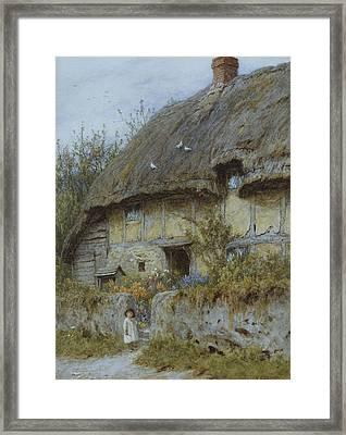 A Berkshire Cottage  Framed Print by Helen Allingham