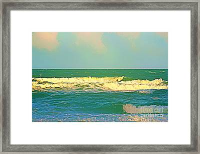 Framed Print featuring the photograph A Big Breaker Wave  by Joan McArthur