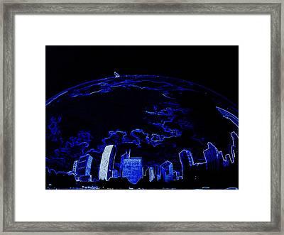 A Bird And Blue World Framed Print