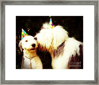 A Birthday Kiss Framed Print by Alene Sirott-Cope