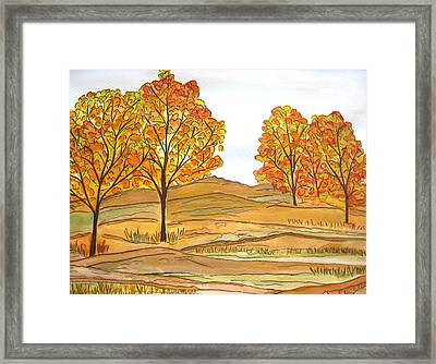 A Bit Of Fall Framed Print
