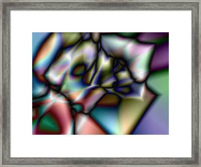 A Black Rose Framed Print