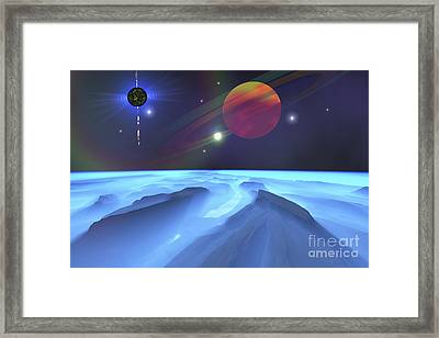 A Blue Fog Envelops The Mountains Framed Print by Corey Ford