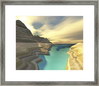 A Blue Shadow Falls Framed Print by Corey Ford