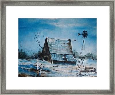A Blue Winter In Texas Framed Print by Robert Ballance