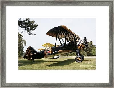 A Boeing Stearman N2s-3 Model Biplane Framed Print by Ramon Van Opdorp