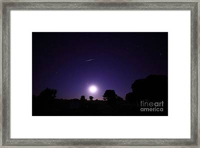 A Bolide From The Geminids Meteor Framed Print by Luis Argerich