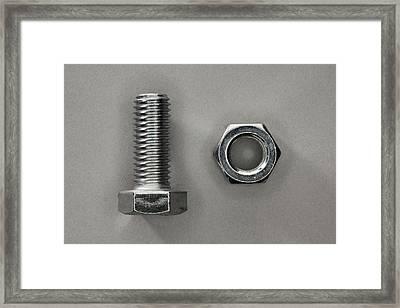 A Bolt And A Nut Framed Print