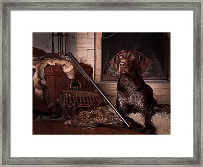 A Born Hunter... Framed Print