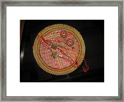 Framed Print featuring the photograph A Bowl Of Rakhis In A Decorated Dish by Ashish Agarwal