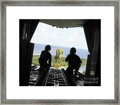 A Box Of Humanitarian Goods Travels Framed Print by Stocktrek Images