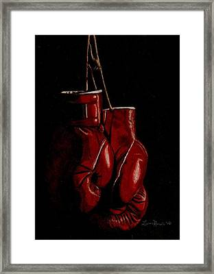 A Boxer's Passion Framed Print by Laura Evans
