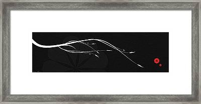 A Branch Framed Print by Nomi Elboim