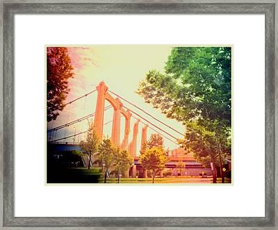 A Bridge In Minneapolis  Framed Print by Susan Stone