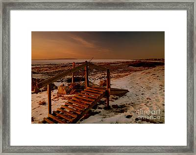 A Bridge To Nowhere Framed Print by Michael Canning
