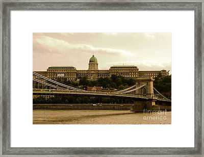 A Bridge To Palace Framed Print by Syed Aqueel