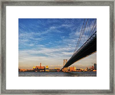 A Bridge To Williamsburg Framed Print
