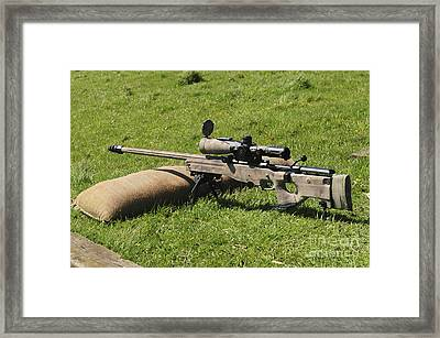 A British Army Arctic Warfare Magnum Framed Print by Andrew Chittock