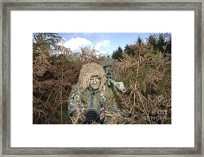 A British Army Sniper Team Dressed Framed Print by Andrew Chittock