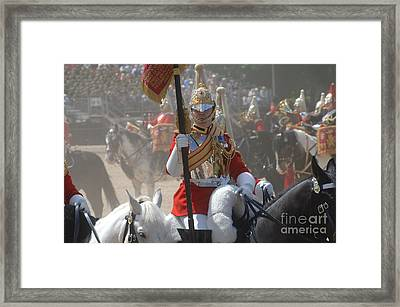 A British Life Guard Of The Household Framed Print by Andrew Chittock