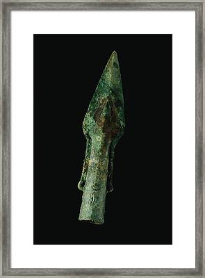 A Bronze Spear Found In Framed Print by O. Louis Mazzatenta