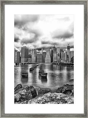 A Brooklyn View Framed Print by Sara Hudock
