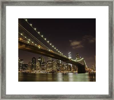 A Brooklyn View Framed Print by Alex Ching