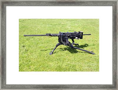 A Browning M2 .50 Caliber Heavy Machine Framed Print by Andrew Chittock