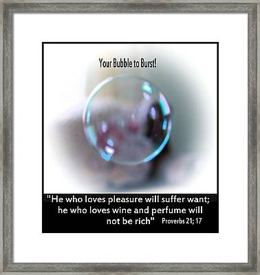 A Bubble Framed Print by Myrna Migala
