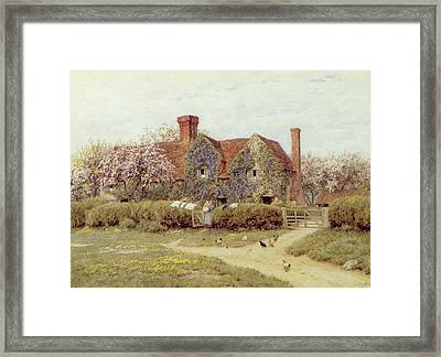 A Buckinghamshire House At Penstreet Framed Print