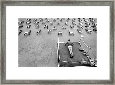 A Buds Instructor Leads Students Framed Print