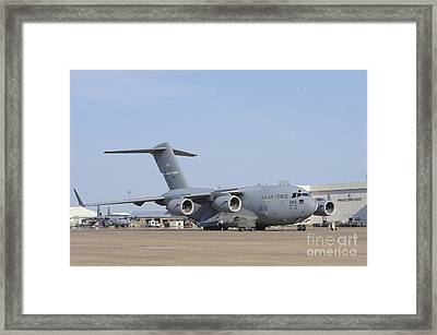 A C-17 Globemaster IIi Parked Framed Print by Stocktrek Images
