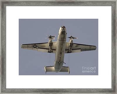 A C-2 Greyhound In Flight Framed Print by Stocktrek Images