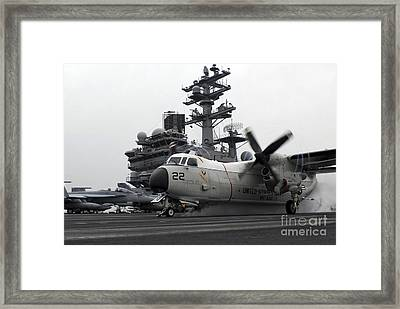 A C-2a Greyhound Launches Framed Print by Stocktrek Images